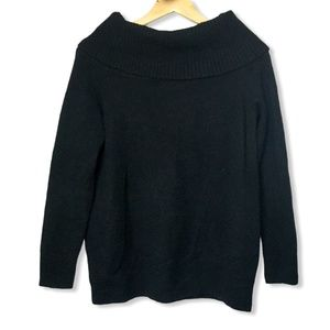 Wilfred Wool Off Shoulder Sweater in Black | Small